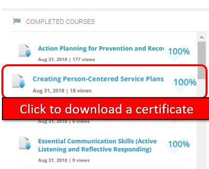 UI: Certificates and Transcripts – APS Virtual Learning